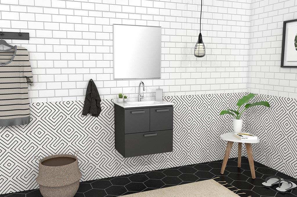 Gabinete para Banheiro em Aço Ísis Cozimax Móveis
