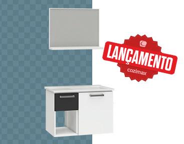 Kit para Banheiro em Aço Açaí Cozimax Móveis