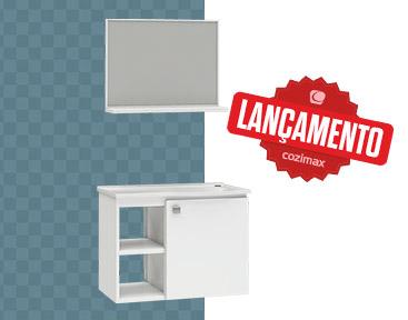 Kit de Banheiro em Aço Açaí Cozimax Móveis