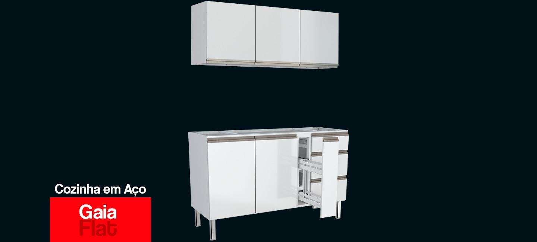Cozinha em Aço Gaia Flat Cozimax