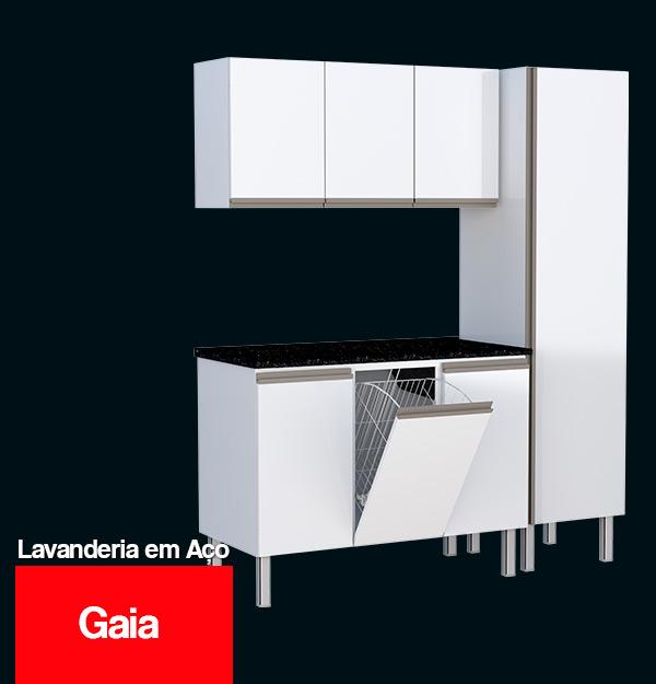 Gabinete para Lavanderia de Aço Gaia