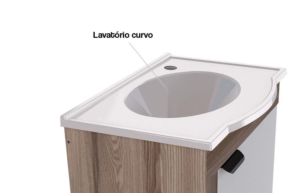 Banheiro em Madeira Jasmim Cozimax Móveis