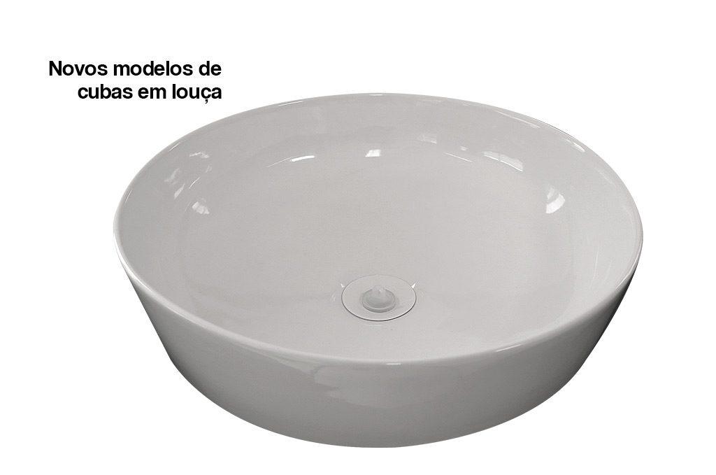 Cubas para Banheiro em Louça e Mármore Sintético Cozimax